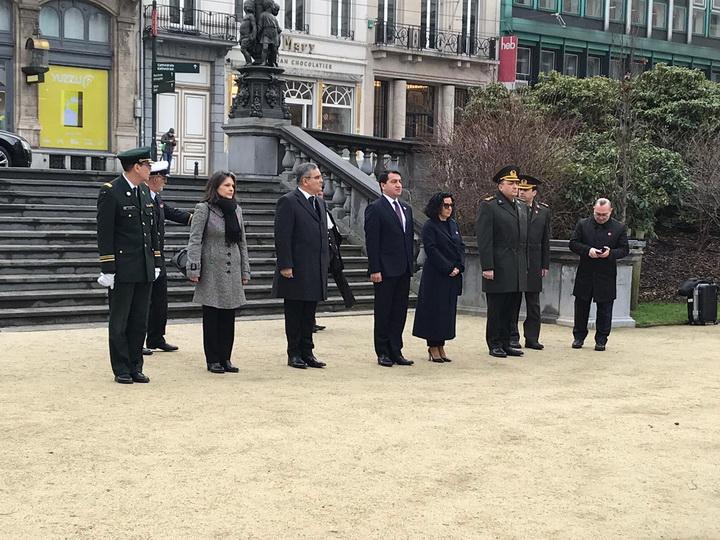 20 yanvar Faciəsi Belçika və Avropanın paytaxtı Brüssel şəhərində təntənəli şəkildə anılıb - FOTO