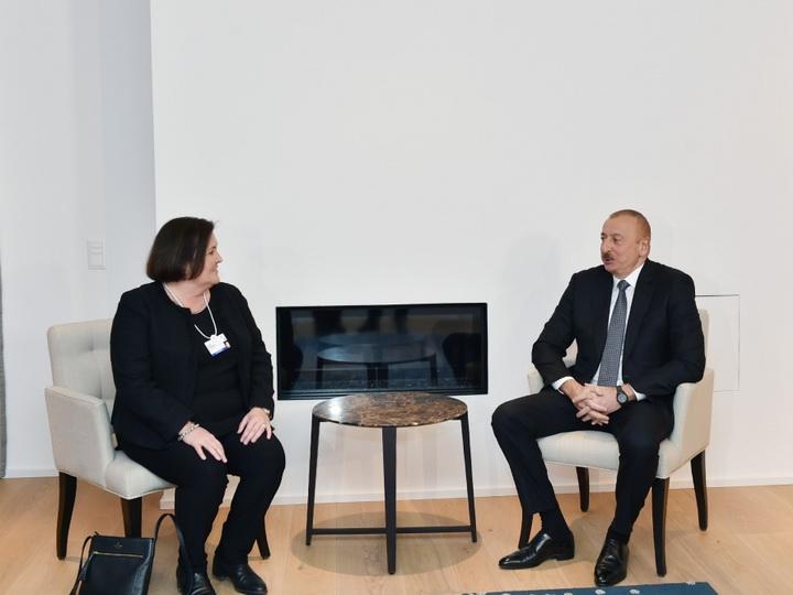 Президент Ильхам Алиев встретился в Давосе с исполнительным вице-президентом CISCO – ФОТО