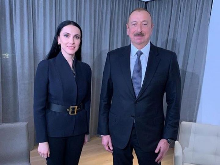 Наиля Аскер-заде: Работу на форуме в Давосе традиционно начинаю с интервью с Президентом Азербайджана - ФОТО