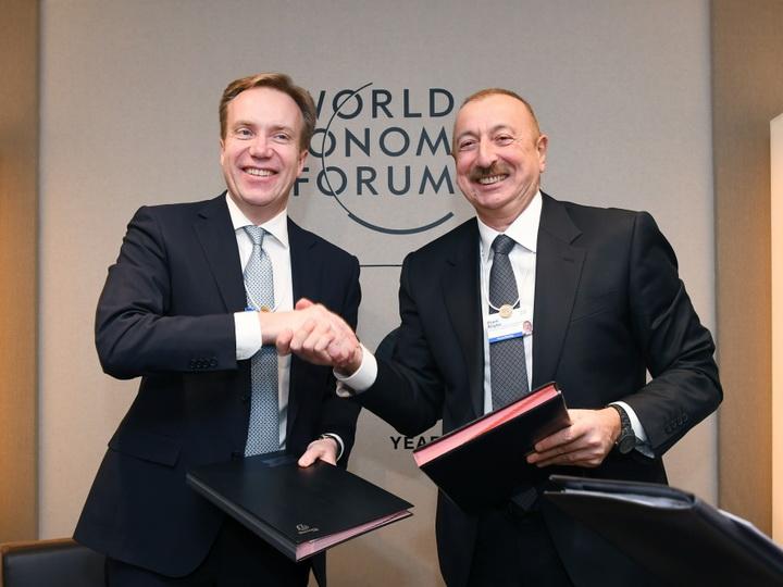 Подписан протокол о намерениях относительно создания в Азербайджане регионального центра Всемирного экономического форума - ФОТО