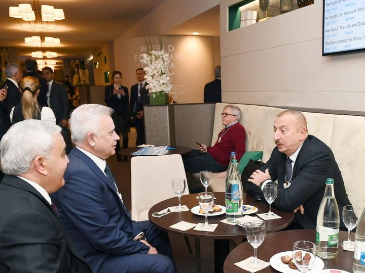 Президент Ильхам Алиев встретился в Давосе с президентом российской компании «ЛУКОЙЛ» - ФОТО