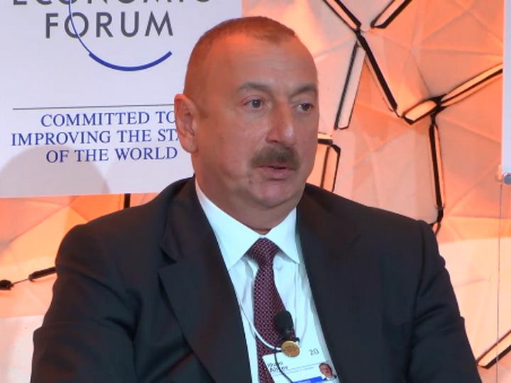 Ильхам Алиев в Давосе: Мы не даем пустых обещаний - ФОТО - ВИДЕО
