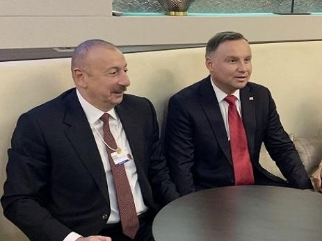 Davosda Azərbaycan Prezidenti İlham Əliyevlə Polşa Prezidenti görüşüb