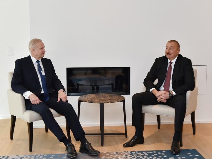 В Давосе состоялись обсуждения нового проекта по разработке блока месторождений «Азери-Чираг-Гюнешли» - ФОТО