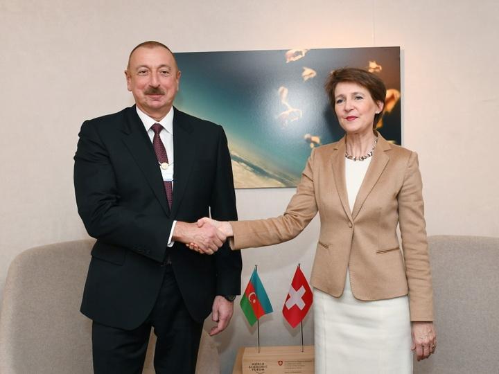В Давосе состоялась встреча Президента Азербайджана с Президентом Швейцарии - ФОТО