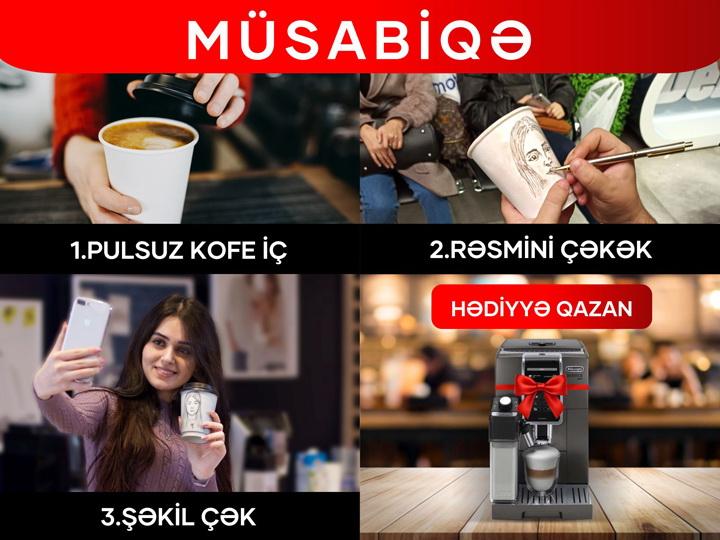 Закажите бесплатный кофе в Kontakt Home и выиграйте подарок на сумму 2400 AZN - ФОТО