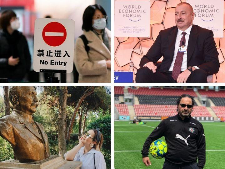 Главное за неделю: президент в Давосе, комичная агитация кандидатов в ММ, новый китайский вирус, отставка тренера «Нефтчи» и многое другое – ФОТО