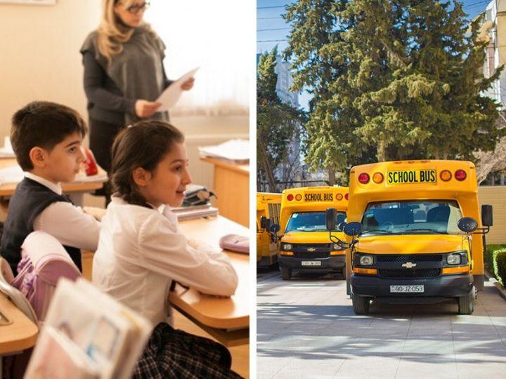 Для ряда бакинских школ будут организованы школьные автобусы