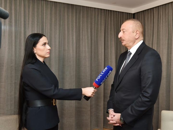 """Azərbaycan Prezidenti İlham Əliyev Rusiyanın """"Rossiya-24"""" televiziya kanalına müsahibə verib"""