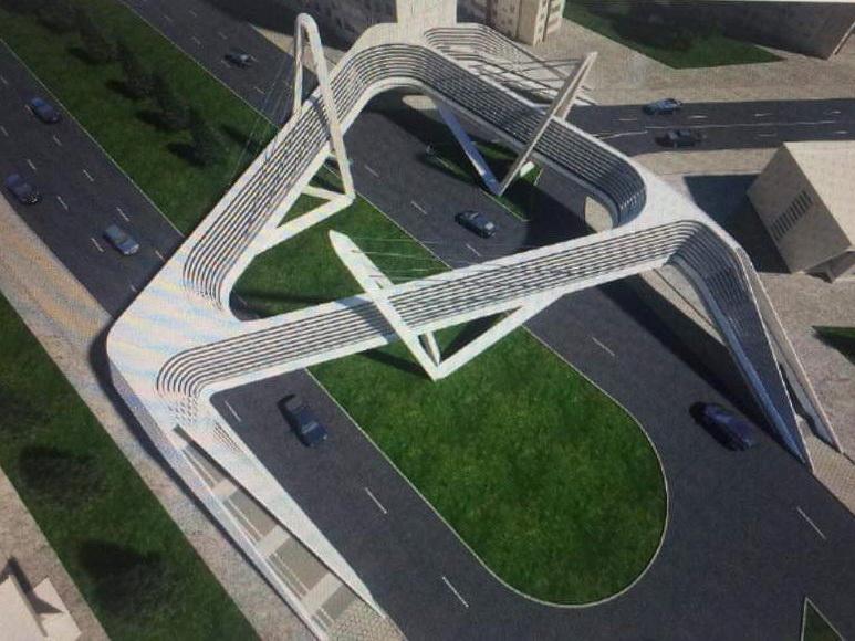 В Баку строят новый уникальный пешеходный переход-«звезду» – ФОТО