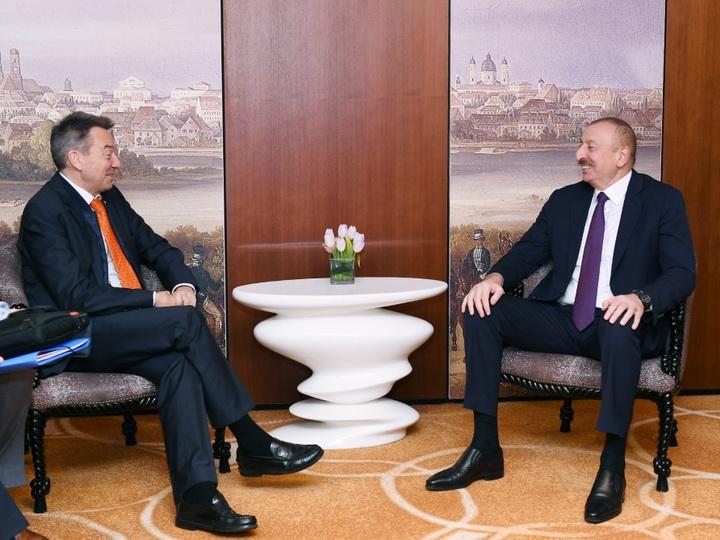Президент Ильхам Алиев встретился в Мюнхене с президентом МККК - ФОТО