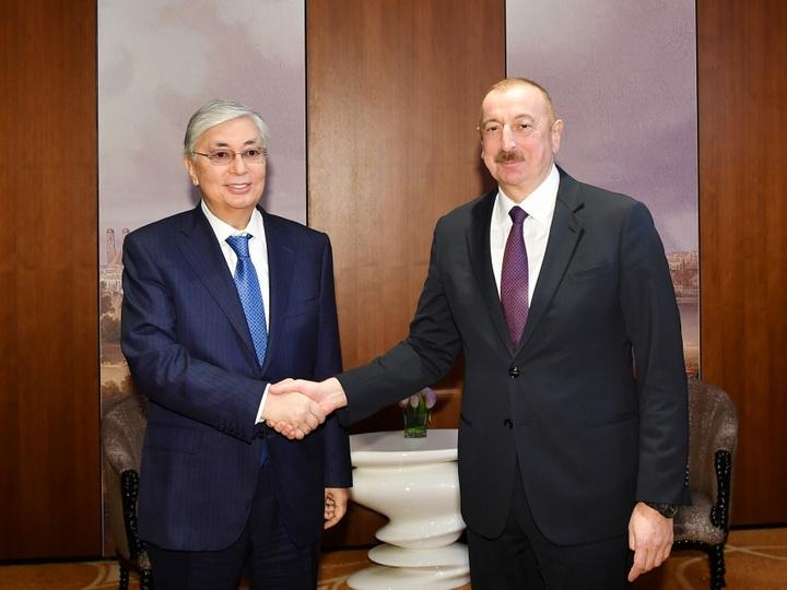 В Мюнхене состоялась встреча президентов Азербайджана и Казахстана - ФОТО