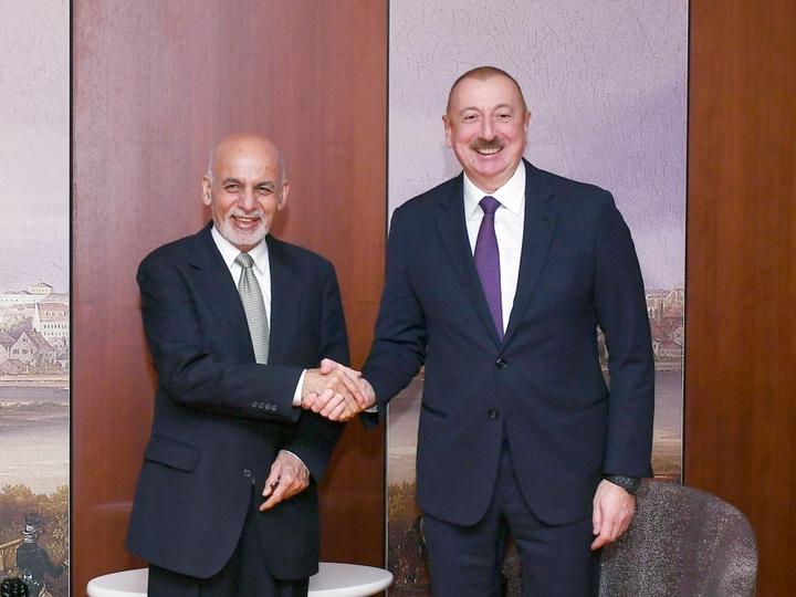 Президент Ильхам Алиев встретился в Мюнхене с Президентом Афганистана - ФОТО