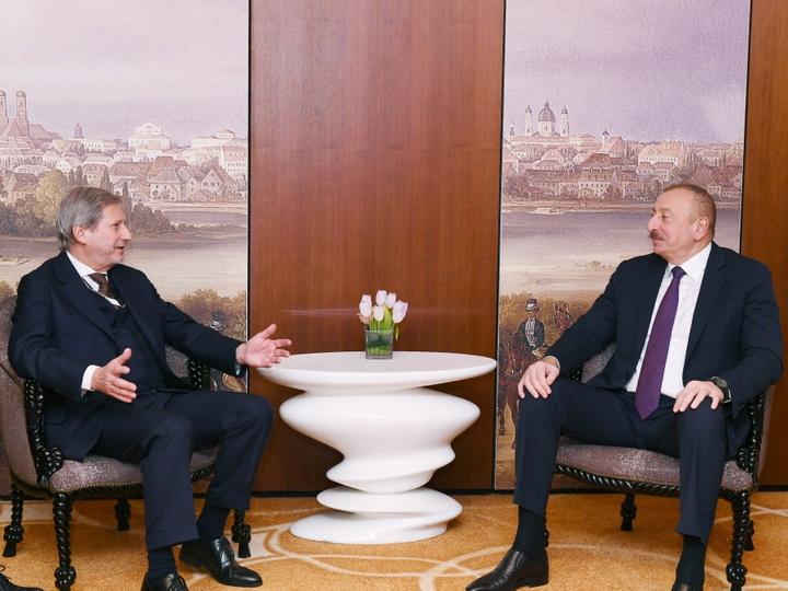 Состоялась встреча Президента Ильхама Алиева с комиссаром Европейского Союза - ФОТО