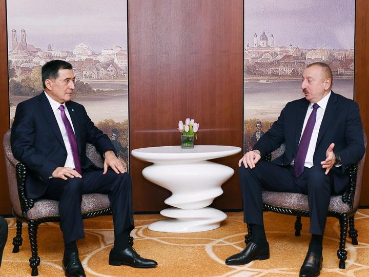 Президент Ильхам Алиев встретился в Мюнхене с генсеком ШОС - ФОТО