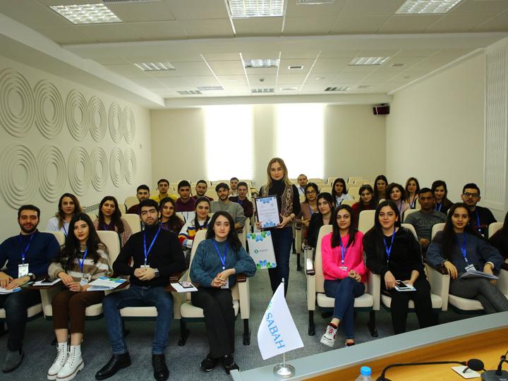 Компания Azercell поделилась опытом с талантливыми студентами групп SABAH - ФОТО
