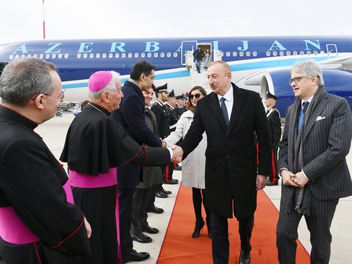 Президент Азербайджана прибыл с государственным визитом в Италию - ФОТО