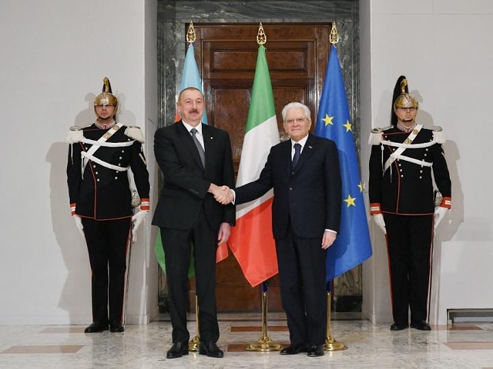 Prezident İlham Əliyevin Romada rəsmi qarşılanma mərasimi olub - FOTO