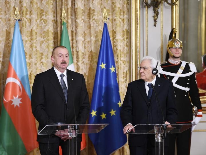 Президент Ильхам Алиев: Италия и Азербайджан являются очень близкими друг другу дружественными странами - ФОТО