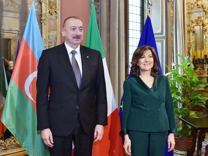 На встрече с председателем Сената Италии подчеркнут высокий уровень связей между двумя странами - ФОТО