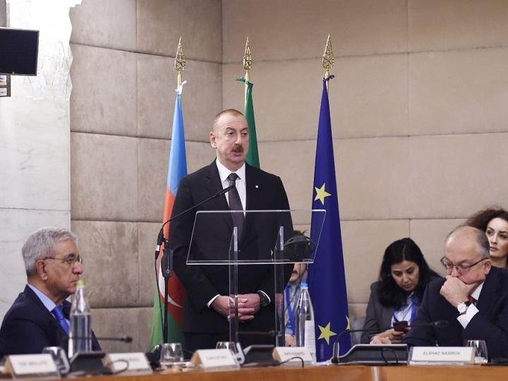 Romada Azərbaycan-İtaliya biznes forumu keçirilib - FOTO - YENİLƏNİB