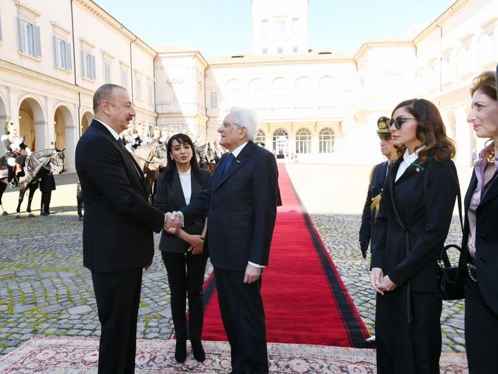 В Риме состоялась церемония официальных проводов Президента Ильхама Алиева - ФОТО