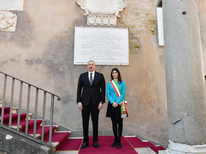Президент Ильхам Алиев встретился с мэром Рима - ФОТО