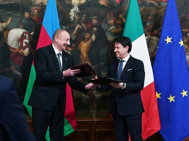 Состоялся обмен азербайджано-итальянскими документами - ФОТО