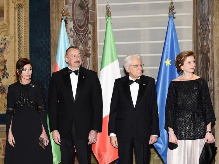В Риме дан государственный прием в честь Президента Азербайджана - ФОТО