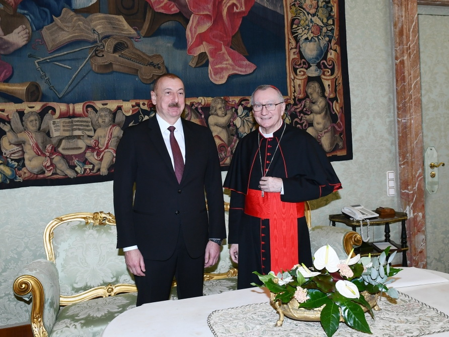 В Ватикане состоялась встреча Президента Ильхама Алиева и государственного секретаря Святого престола кардинала Пьетро Паролини - ФОТО - ВИДЕО