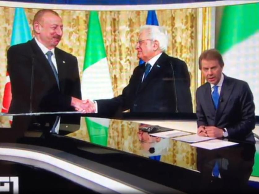 На телеканале Rai прошел репортаж о государственном визите Президента Ильхама Алиева в Италию - ФОТО