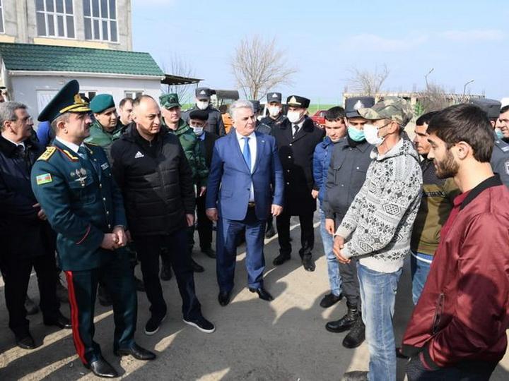 Руководители семи структур совершили визит на КПП «Астара» и «Билясувар» - ФОТО