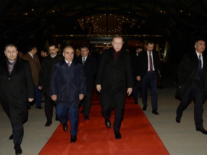 Завершился визит Президента Турции в Азербайджан - ФОТО