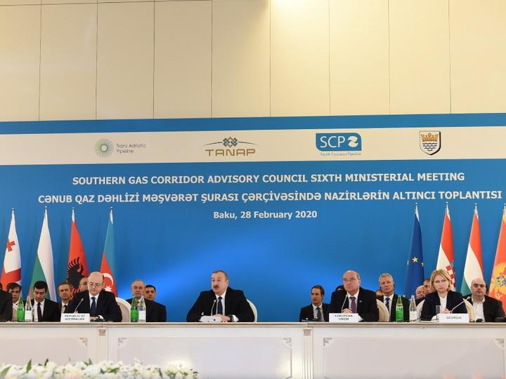 Ильхам Алиев принял участие в заседании министров в рамках Консультативного совета ЮГК - ФОТО
