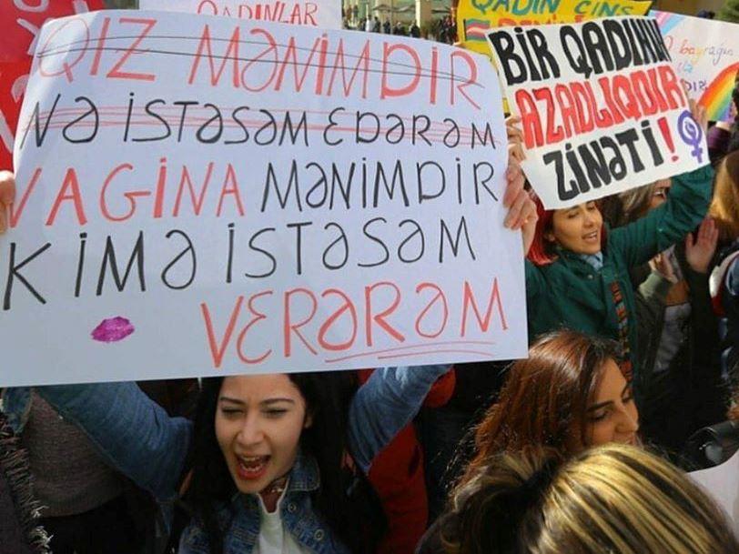"""""""Vagina ehtirasları"""" və ya azərbaycanlı feministlərin əsl siması – FOTO – VİDEO"""