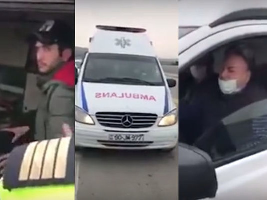 Təcili tibbi yardım maşını ilə sərnişin daşıyan sürücü cəzalandırıldı