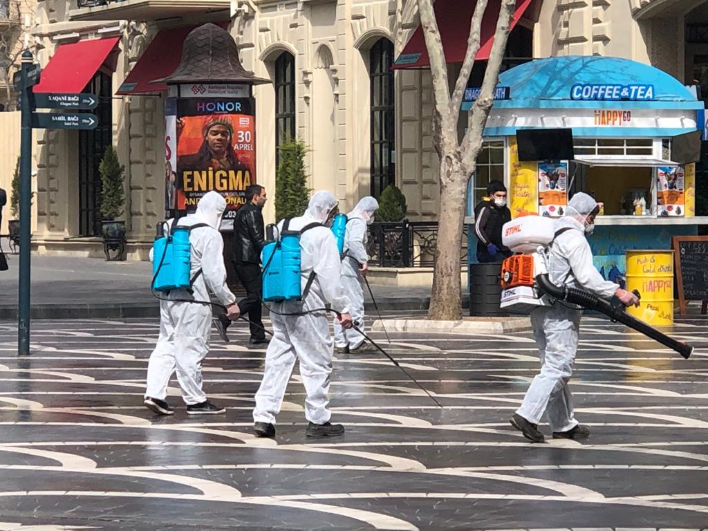 Парки, скверы и улицы: Продолжается дезинфекция Баку – ФОТО