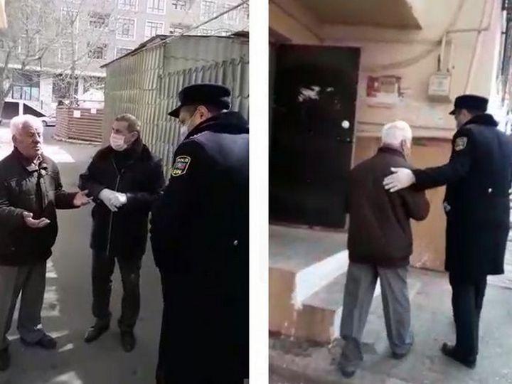 Arif Quliyev qaydanı pozdu, polis güzəştə getmədi - VİDEO