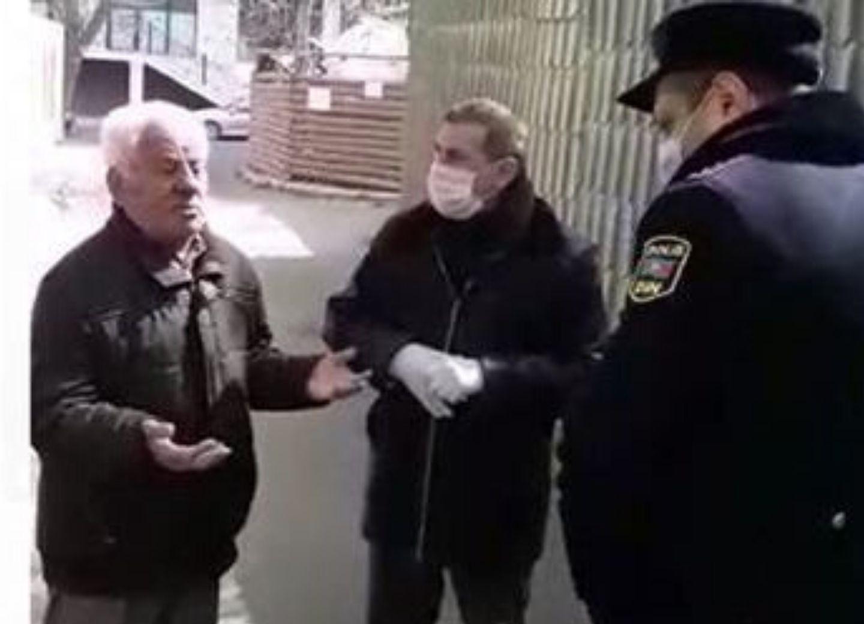 Народного артиста Азербайджана, нарушившего карантин, остановила полиция – ВИДЕО