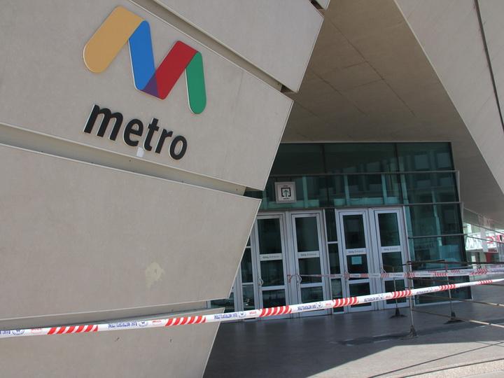 В Баку ограничили движение пассажиров у входов на станции метро - ФОТО