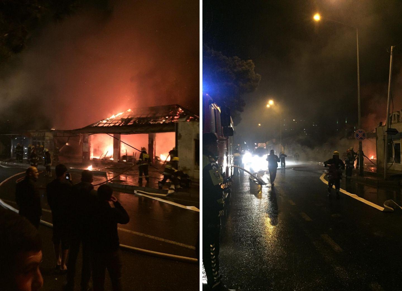 Пожар на фруктовом рынке в Баку ликвидирован - ФОТО - ВИДЕО - ОБНОВЛЕНО