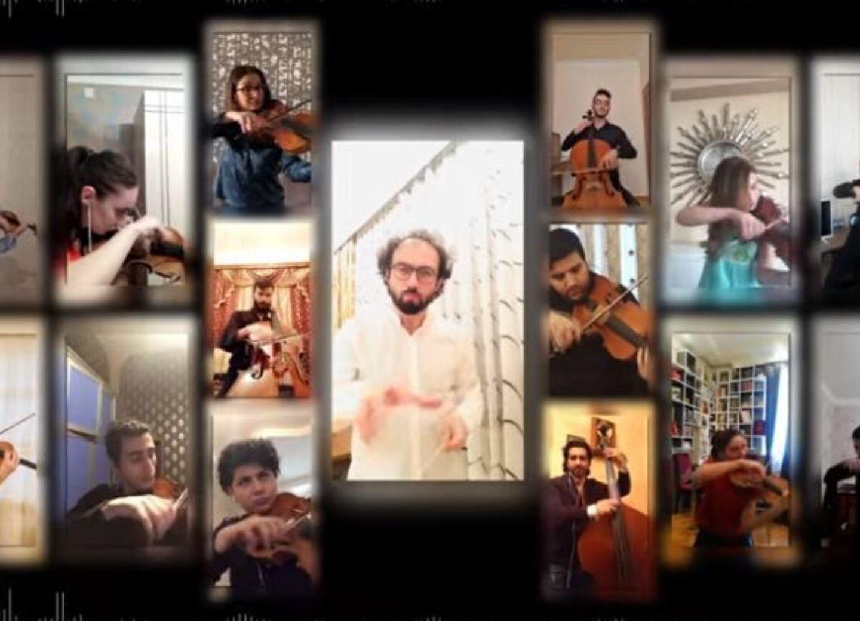 Музыканты Бакинского камерного оркестра исполнили отрывок из «Тропою грома», находясь дома- ВИДЕО