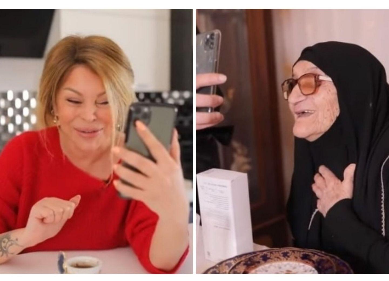 #EvdəQal:Айгюн Кязимова online пообщалась со 103-летней бабушкой и спела для нее - ВИДЕО