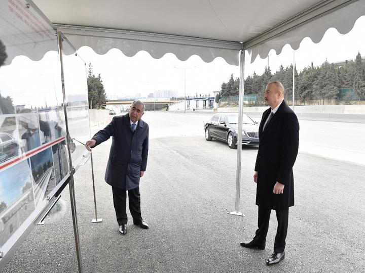 İlham Əliyev Bakı-Sumqayıt yolunun genişləndirilməsi çərçivəsində görülən işlərlə tanış olub – YENİLƏNİB