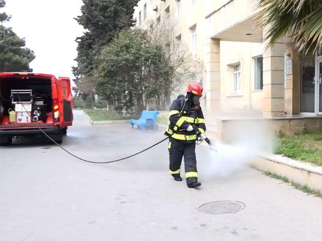 Пожарные МЧС дезинфицируют Баку – ФОТО – ВИДЕО