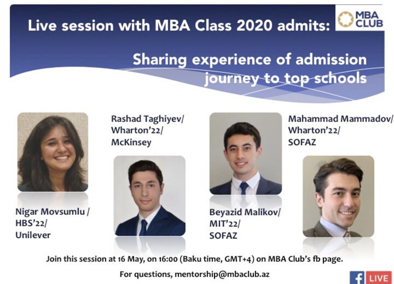 MBA Club Mentorship: biznes idarəçiliyi üzrə beynəlxalq dərəcəyə yönəlmiş Azərbaycan gəncləri üçün kömək