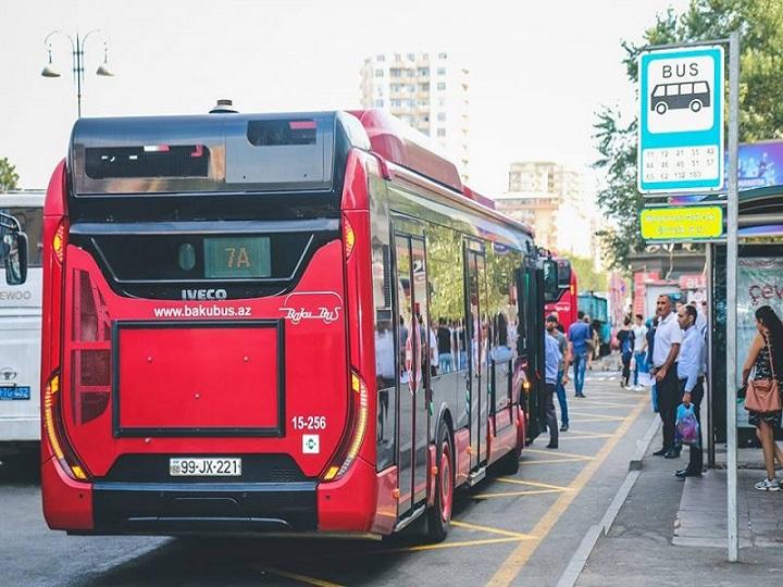 Bakıda bəzi avtobusların hərəkət istiqamətləri dəyişdirildi