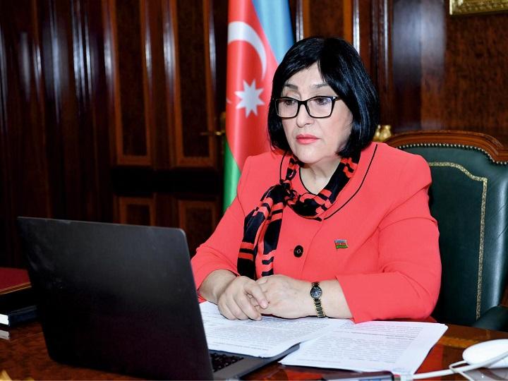 Milli Məclisin sədri Sahibə Qafarova videokonfrans formatında seçicilərin qəbulunu keçirib