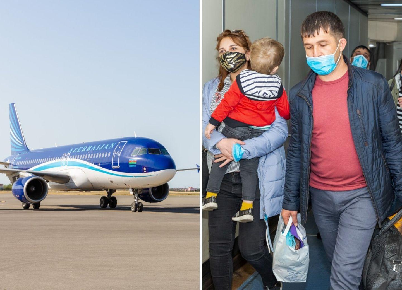 Из Москвы в Баку были доставлены 175 граждан Азербайджана - ФОТО