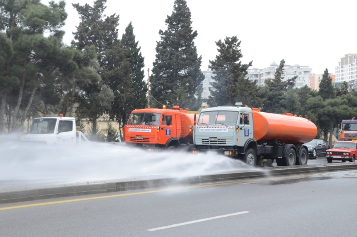 В Баку проведут масштабную дезинфекцию